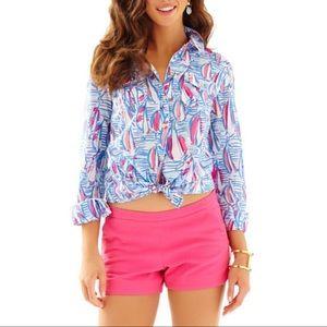 Lilly Pulitzer Cruiser Button Down Shirt